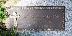 Edith M. Robinson