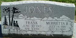 Merrietta B <i>Crawford</i> Jones