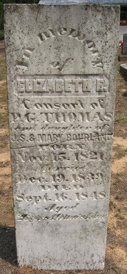 Mary Elizabeth <i>Bourland</i> Thomas