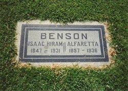 Alfaretta <i>Talmadge</i> Benson