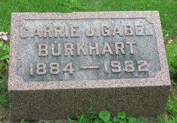 Carrie J <i>Gabel</i> Burkhart