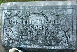 Marjorie Elizabeth <i>Cowart</i> Sanders