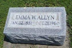 Mrs Emma E. <i>Wolfinger</i> Allyn