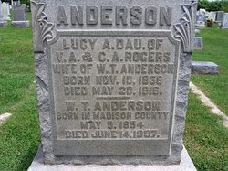 Lucy A. <i>Rogers</i> Anderson