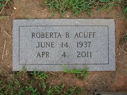 Roberta B <i>Burkhart</i> Acuff