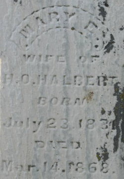Mary Elizabeth <i>Howe</i> Halbert