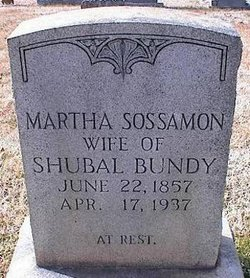 Martha <i>Sossamon</i> Bundy