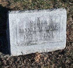Hannah M <i>Palmer</i> Adams