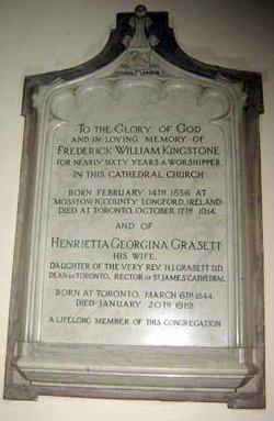 Henrietta Georgina <i>Grasett</i> Kingstone