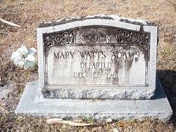 Mary <i>Watts</i> Adams
