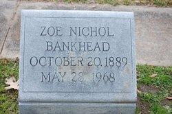 Zoe <i>Nichol</i> Bankhead