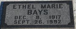 Ethel Marie <i>Miller</i> Bays