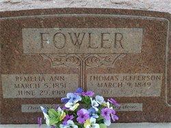 Pemelia Ann <i>Chandler</i> Fowler