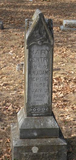 Mary <i>Gentry</i> Adams