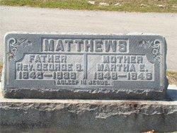 Rev George Shupeman Matthews