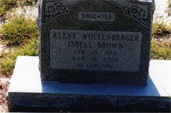 Alene Wolfenberger <i>Isbell</i> Brown