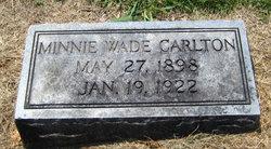 Minnie <i>Wade</i> Carlton