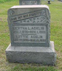 Bertha L Acklin