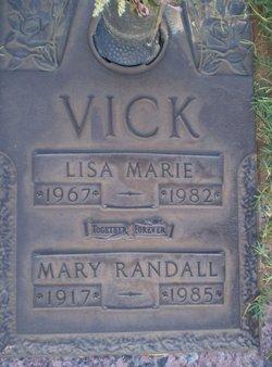Mary <i>Randall</i> Vick