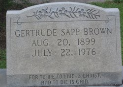 Gertrude Sapp Brown