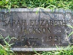 Sarah Elizabeth <i>Houston</i> Jackson