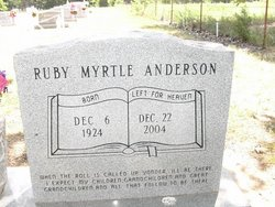 Ruby Myrtle <i>Anthony</i> Anderson
