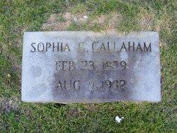 Sophia C. <i>Burks</i> Callaham