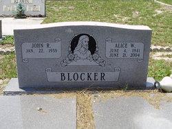 Alice W. <i>Easom</i> Blocker