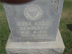 Rosa Adalade Addie <i>Biggs</i> Newberry