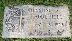 Christine W Adderhold
