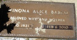 Winona Alice <i>Phillips</i> Barco