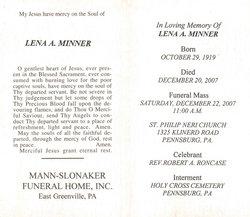 Lena Agnes <i>Stoudt</i> Minner