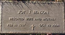 Joy J. <i>Brown</i> Benson