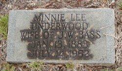 Minnie Lee <i>Underwood</i> Bass