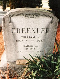 Sarah Jane <i>Tolbert</i> Greenlee