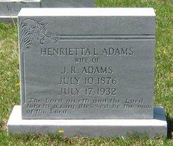 Henrietta L <i>Webb</i> Adams