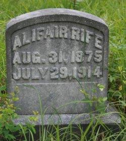 Martha Alifair <i>Bentley</i> Rife Crigger