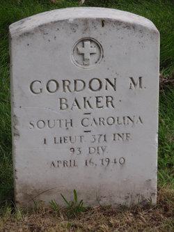 Lieut Gordon M. Baker