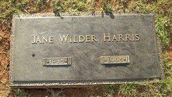 Jane <i>Wilder</i> Harris