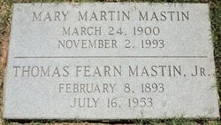 Thomas Fearn Mastin, Jr