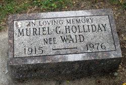 Muriel G <i>Waid</i> Holliday