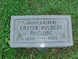 Esther Aunt Easter <i>Amick</i> Hilbert McClung
