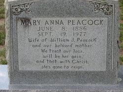 Mary Anna <i>Adams</i> Peacock
