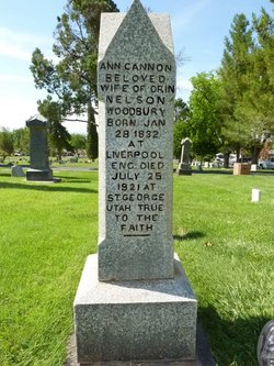 Ann <i>Cannon</i> Woodbury