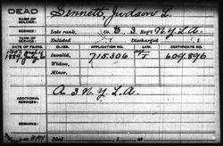Pvt Judson L Sennett