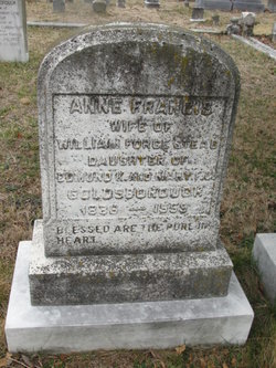 Anne Frances <i>Goldsborough</i> Forestead