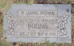 Gwendolyn Maudine <i>Darr</i> Boone