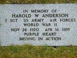 Harold W Anderson