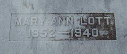 Mary Ann <i>Moore</i> Lott