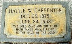 Harriet Kiziah Hattie <i>Williams</i> Carpenter